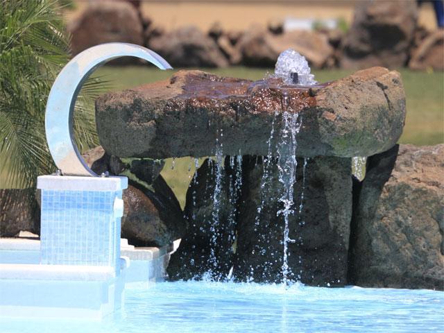 Het schitterende zwembad van de agriturismo - Sardinie