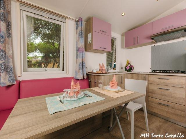 Vakantie Sardinie - Plattegrond mobile homes Torre Corallo - Sardinia4all